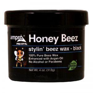 Ampro Pro Styl Honey Beez Stylin' Beez Wax - Black 4 oz