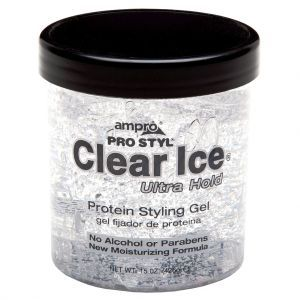 Ampro Pro Styl Clear Ice Protein Styling Gel - Ultra Hold 15 oz