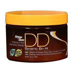 Ampro Shine 'n Jam Shea Butter Hair Skin Dynamic Do-All Cream 12 oz