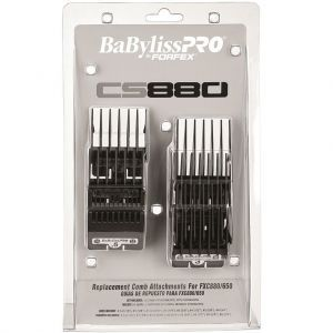 BaByliss Pro By Forfex Attachment 8 Pcs Comb Set Fits All 880 Models, FX870G, FX870RG, FX650, FX673 #FXCS880-320