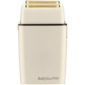 BaByliss Pro FOILFX02 Cordless Metal Double Foil Shaver - White #FXFS2W (Dual Voltage)