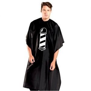Betty Dain Barber Pole Styling Cloth Cape - Black, Red #201S