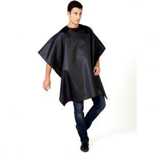 Betty Dain Seersucker Barber Cloth Cape - Solid Black #206