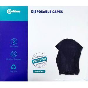 Caliber Disposable Capes Black - 50 Capes