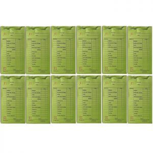 Cameo Salon Color Check Pads - Green - 12 Pack