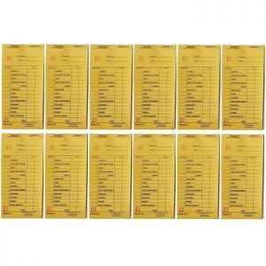 Cameo Salon Color Check Pads - Yellow - 12 Pack