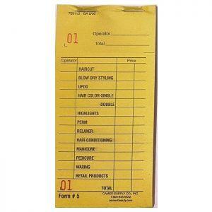 Cameo Salon Color Check Pads - Yellow