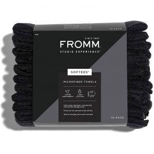 Fromm Studio Experience Softees Microfiber Towels - Black 10 Pack #45006