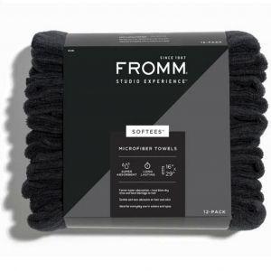 Fromm Studio Experience Softees Microfiber Towels - Black 12 Pack #45106