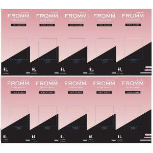 Fromm Color Studio Powder Free Vinyl Clear Gloves 100 Pcs - Large #D8022 - 10 Pack