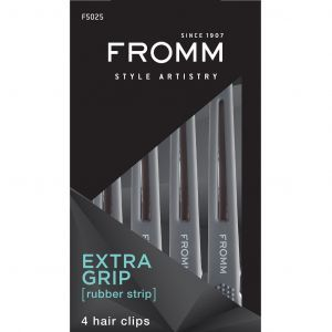 Fromm Rubberized Grip Hair Clips - 4 Pack #F5025