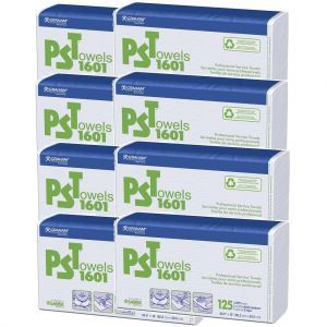 Graham PST Towels 1601 - 1000 2 Ply Towels (125 2 Ply Towels X 8 Pack) #16161