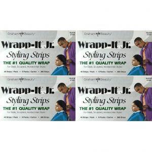 Graham Sanek Wrapp-It Jr. Styling Strips Black - 1,440 Strips (360 Strips X 4 Box)