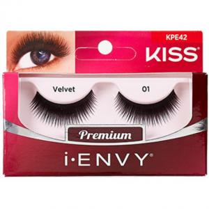 Kiss i-ENVY Premium Human Remy Hair Eyelashes 1 Pair Pack - Velvet 01 #KPE42