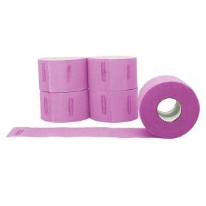 L3VEL3 Neck Strip Rolls Pink - 500 Strips #R029P
