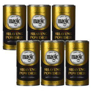 Softsheen Carson Magic Shaving Powder Gold - Fragrant 4.5 oz - 6 Pack