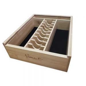 Vincent Bamboo Counter Top Barber Tray - Small #VT10202