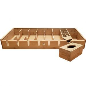 Vincent Bamboo Counter Top Barber Tray - Large #VT10200