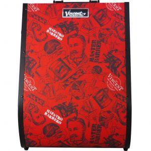 Vincent Hard Shell Backpack - Vintage Red #VT10402