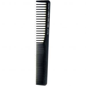 Vincent Ceramic All Purpose Styling Comb Black - 7 1/4