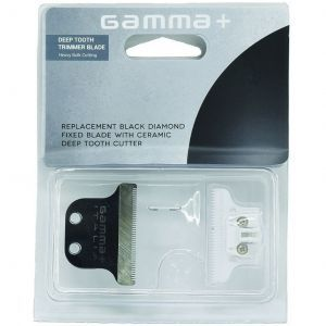 Gamma+ Absolute Hitter Replacement Black Diamond Fixed Blade with Ceramic Cutter - Deep Tooth Trimmer Blade #GPAHRBDC