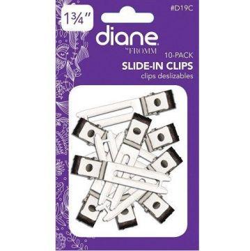 "Diane Slide In Clips 1 3/4"" Silver - 10 Pack #D19C"