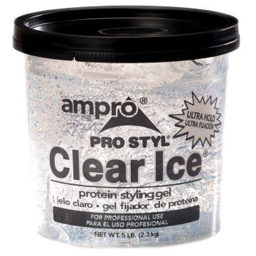 Ampro Pro Styl Clear Ice Protein Styling Gel - Ultra Hold 5 Lbs