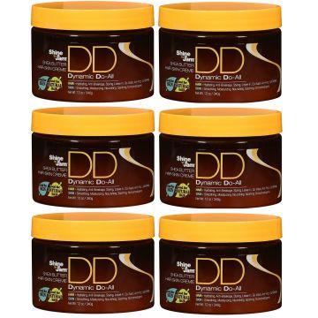 Ampro Shine 'n Jam Shea Butter Hair Skin Dynamic Do-All Cream 12 oz - 6 Pack