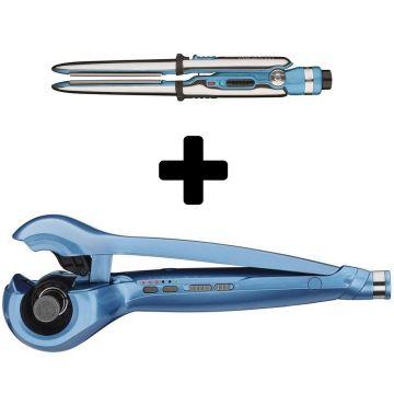 "BaByliss Pro Nano Titanium MiraCurl 3-in-1 Professional Curl Machine & Get One Prima 2000 Mini Flat Iron - 3/4"" FREE! #BABNTMC3"