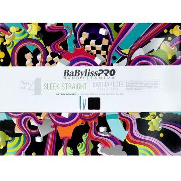 """BaByliss Pro Limited Edition Holiday Box No.4 Sleek Straight - 1 1/4"""" Flat Iron & 1"""" Mini Flat Iron & Silicone Heat Mat #BNT19H4UC"""