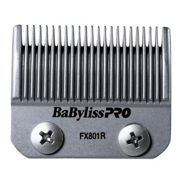 BaByliss Pro High-Carbon Stainless Steel Replacement Clipper Blade Fits FXF880, FX870RG, FX870G #FX801R