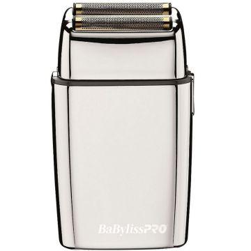 BaByliss Pro FOILFX02 Cordless Metal Double Foil Shaver - Silver #FXFS2 (Dual Voltage)