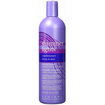 Clairol Shimmer Lights Conditioner Blonde and Silver 16 oz