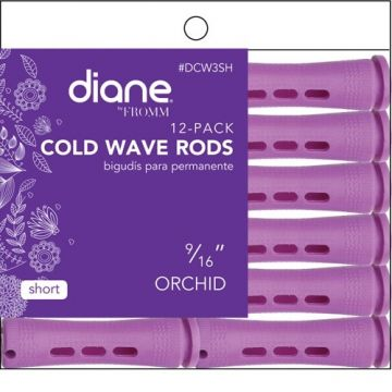 """Diane Short Cold Wave Rods Orchid 9/16"""" - 12 Pack #DCW3SH"""