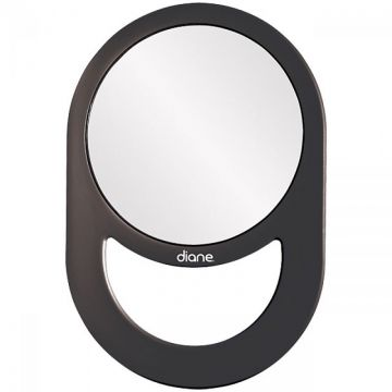 Diane Handle Mirror Black #D1021