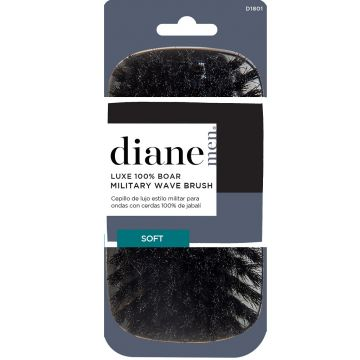 Diane Luxe 100% Boar Military Wave Brush - Black / Soft #D1801