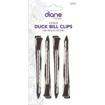 "Diane Duck Bill Clips 3 1/2"" - 4 Pack #D21C"