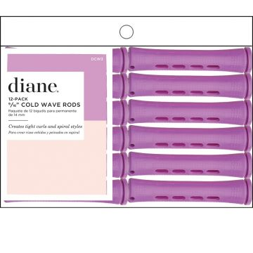 """Diane Long Cold Wave Rods Orchid 9/16"""" - 12 Pack #DCW3"""