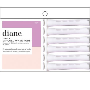 """Diane Long Cold Wave Rods 12 Pack White - 7/16"""" #DCW4"""