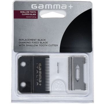 Gamma+ Replacement Black Diamond Fixed Blade with Cutter - Shallow Tooth Clipper Blade #GPCRBSS
