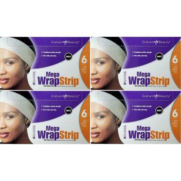 Graham Sanek Mega Wrap Strips White - 960 Strips (240 Strips X 4 Box)