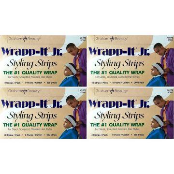 Graham Sanek Wrapp-It Jr. Styling Strips White - 1,440 Strips (360 Strips X 4 Box)