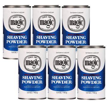 Softsheen Carson Magic Shaving Powder Blue - Regular Strength 5 oz - 6 Pack