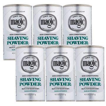 Softsheen Carson Magic Shaving Powder Platinum - Skin Conditioning 4.5 oz - 6 Pack