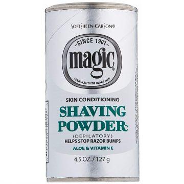 Softsheen Carson Magic Shaving Powder Platinum - Skin Conditioning 4.5 oz