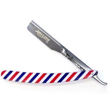 Nexxzen Professional Barber Push All Metal Razor - Barber Pole #NZR070-BP