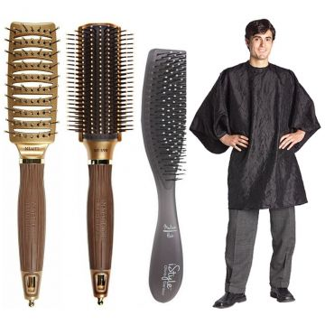Olivia Garden Barber Shop Brush 4 Pcs Box Deal #NT-BOX17