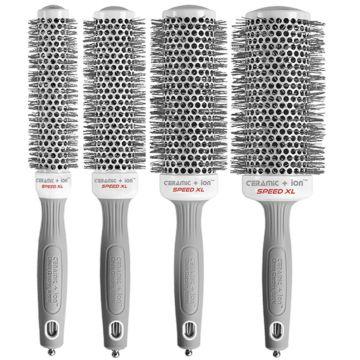 Olivia Garden Ceramic + Ion Speed XL Thermal Brush 4 Pcs Box Deal #CIXL-BOX01