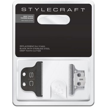 Stylecraft Replacement DLC Fixed Blade with Stainless Steel Cutter - Deep Tooth Trimmer Blade #SCAHRBD