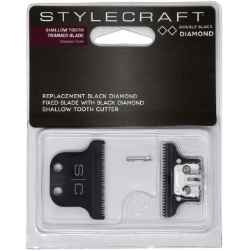 Stylecraft Replacement Black Diamond Fixed Blade with Black Diamond Cutter - Shallow Tooth Trimmer Blade #SCTBDLCS